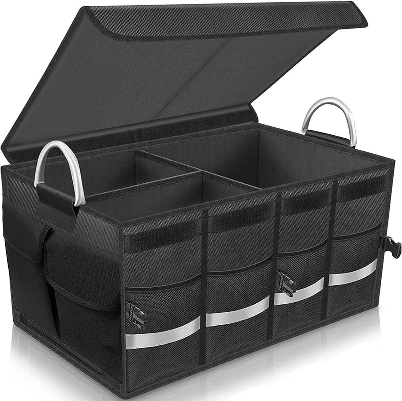 Black Trunk Organizer Cargo Nylon Collap Excellent Translated Storage
