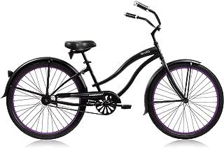Micargi Bicycle Industries Women's Stealth Single Speed Ride On, Matte Black