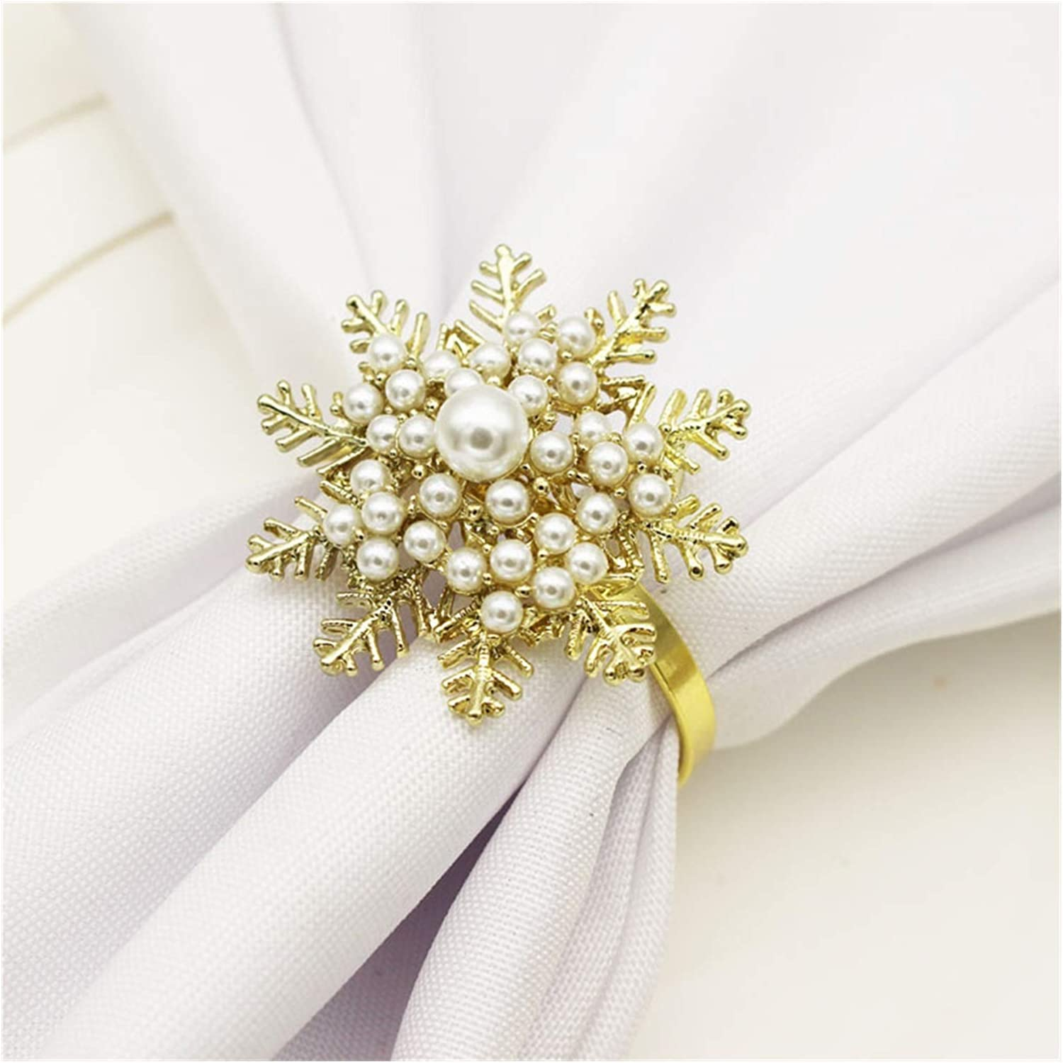 LAIQIAN Spiral Napkin Rings 2021 spring and summer shopping new 12PC D Day Hotel Tableware Christmas