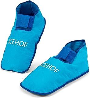 ICEHOF Skarpety chłodzące (1 para) z delikatnego materiału – buty chłodzące z żelową terapią zimnem dla stóp w przypadku c...