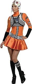 Secret Wishes Star Wars Woman's X-Wing Fighter, Orange/Black, Small