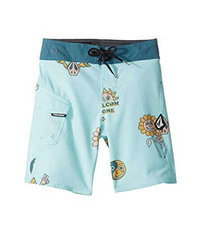 Volcom Kids Peace Stones Mod Boardshorts (Toddler/Little Kids) (Seaglass) Boy