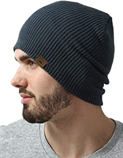 Tough Headwear Daily Knit Ribbed Beanie - Warm, Stretchy & Soft Beanie Hats for Men & Women - Year Round Comfort - Serious Beanies for Serious Style
