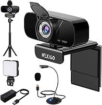 1080P Webcam Kits, NexiGo FHD USB Web Camera with Privacy Cover, Tripod Stand, Video Conference Lighting, USB Microphone, ...