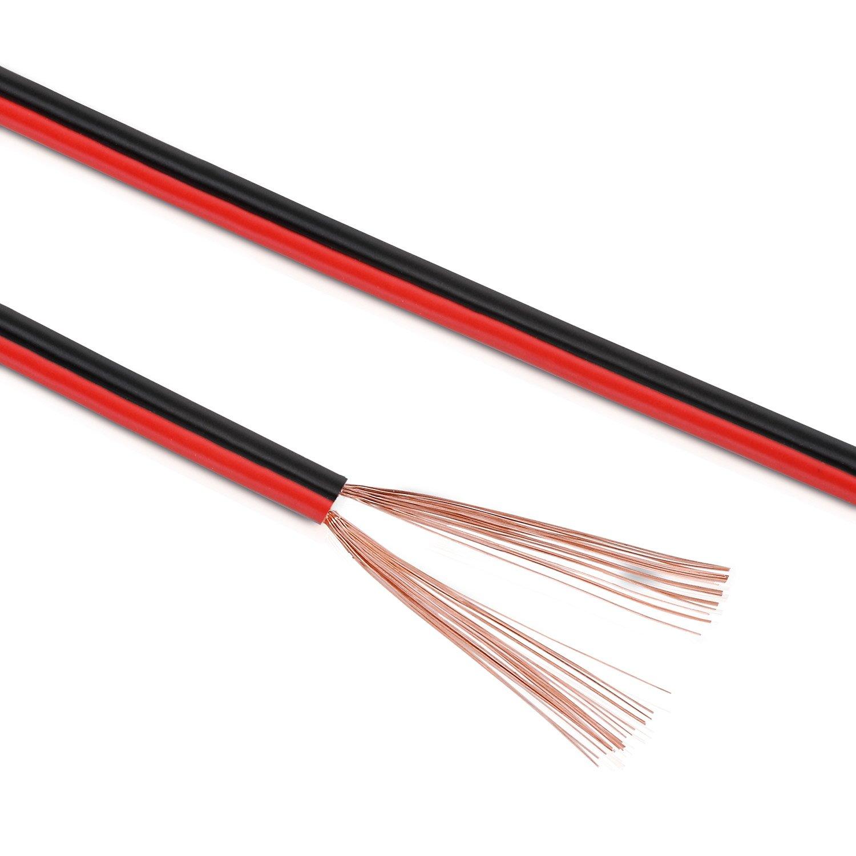 10m 0.75mm² Car Speaker cable Black//Black-Red