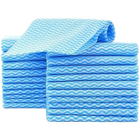 JEBBLAS キッチンクロス カウンタークロス ふきん 雑巾 台拭き、吸水性が良い 乾燥が速いので 繰り返し使える雑巾 約33cmx60cm 60枚入り