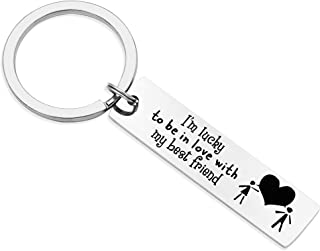 Love Keychain for Couples Birthday Gift for Husband Boyfriend Valentines Day Gift for Girlfriend