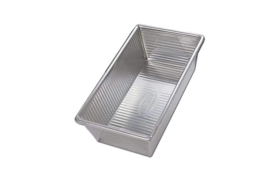 USA Pan 1140LF-BB-2-1 Bare Aluminum 1 Pound Loaf Pan