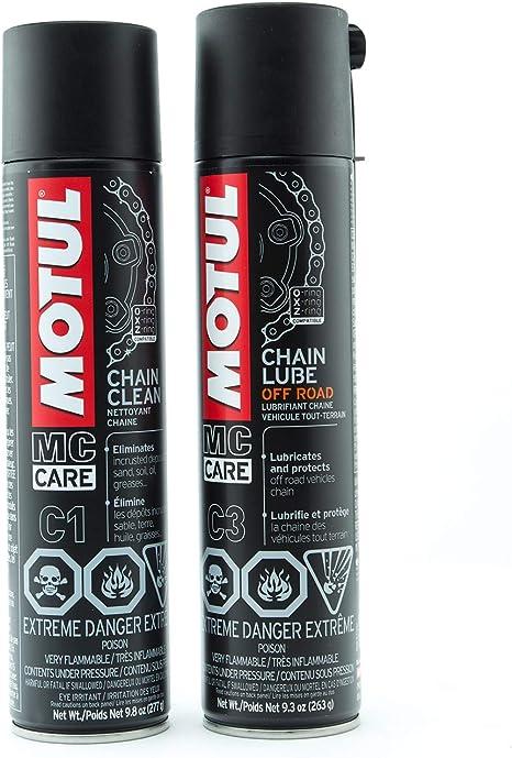 Motul Chain Cleaner Plus Chain Lube