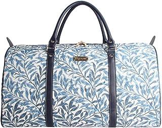 Designer William Morris Women Canvas Carry-on Overnight Weekender Duffel Travel Bag