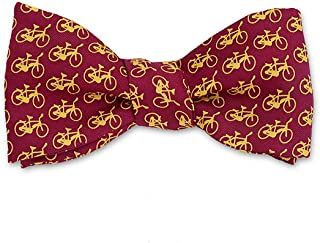 Men's Bicycles Self-Tie Silk Bow Tie in Red, Made in USA