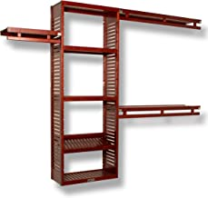 John Louis Home JLH-530 12in. Deep Simplicity Closet Organizer, Red Mahogany Finish, 12 inch,