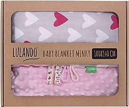 Kuschelige Baby-Decke Babydecke Kuscheldecke Krabbeldecke rosa 100x140 cm