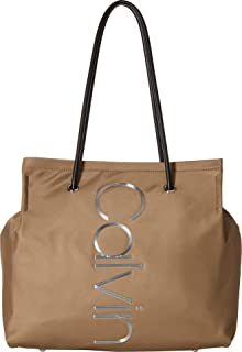 Calvin Klein Mallory Nylon North/South Vertical Branding Tote