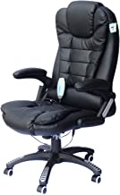 HomCom High-Back Executive Ergonomic PU Leather Heated Vibrating Massage Office Chair - Black