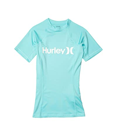 Hurley One and Only Short Sleeve Rashguard (Light Aqua) Women