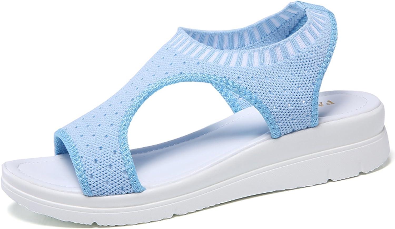 Ezkrwxn Women Platform Sandals Summer Casual Fashion Lightweight Wedges Sandals