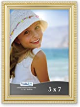 Icona Bay Picture Frames Picture Frame Set, Wall Mount or Table Top, Inspirations Collection, Plastic, Gold, 5x7