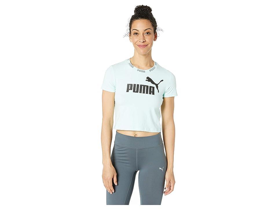 PUMA Amplified Logo Cropped Tee (Fair Aqua) Women