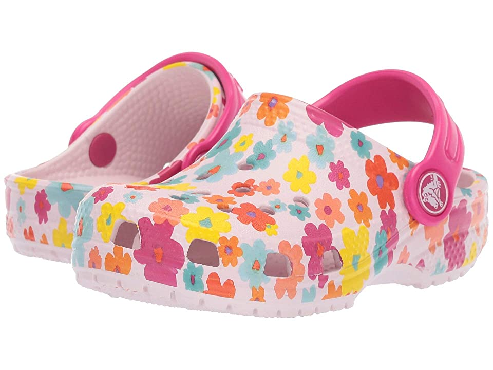 Crocs Kids Classic Seasonal Graphic Clog (Toddler/Little Kid) (Barely Pink) Kids Shoes