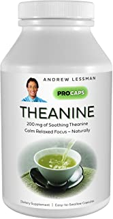 Andrew Lessman Theanine 200 mg - 60 Capsules - Promotes The Production of The Neurotransmitters Dopamine and Serotonin. Na...