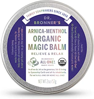 Dr. Bronner's - Organic Magic Balm (2 Ounce) - Made with Organic Beeswax and Organic Hemp Oil, Relieves and Relaxes Sore M...