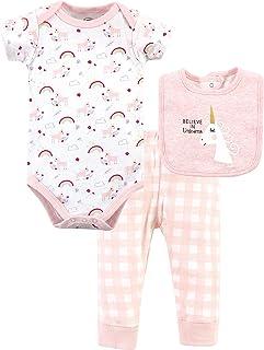 Luvable Friends baby-boys Unisex Baby Bodysuit, Pant and Bib T-Shirt Set