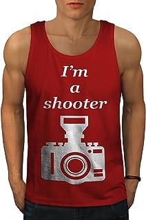 Wellcoda 写真家 クール おもしろいです 男性用 S-2XL タンクトップ
