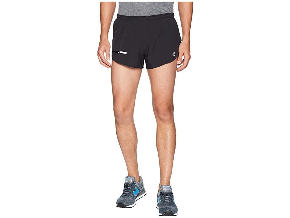 New Balance Impact Split Shorts 3 (Black) Men