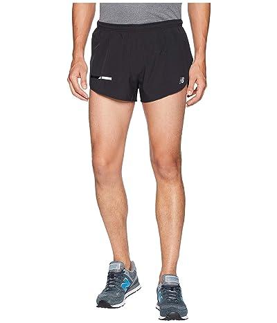 New Balance Impact Split Shorts 3 (Black) Men