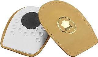 Taloneras para espolón - De piel auténtica, gran calidad, con almohadilla de talón adaptable, plantillas fascitis plantar y espolón calcáneo