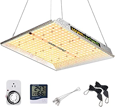 MARS HYDRO TS 1000 LED Grow Light Daisy Chain Dimming Power Switch On/Off Reflector Sunlike Spectrum LED for 3x3ft Grow IR Grow Lights for Indoor Plants Veg Flower Less Watts More Light 342pcs LEDs
