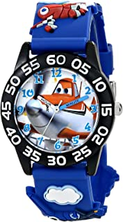 Disney Kids' W001527 Disney Planes Fire & Rescue  Watch with Blue Plastic Band