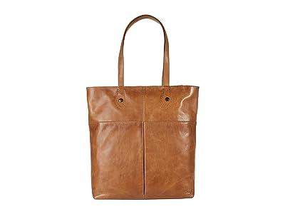 Frye Melissa Simple Zip Tote (Beige) Handbags