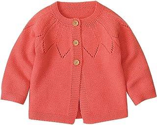 H.eternal(TM), Chaqueta de punto para bebé o niña, para niño, jersey de ganchillo