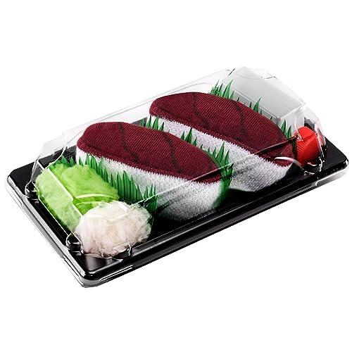 Rainbow Socks - Mujer Hombre Calcetines Sushi Atún - 1 Par