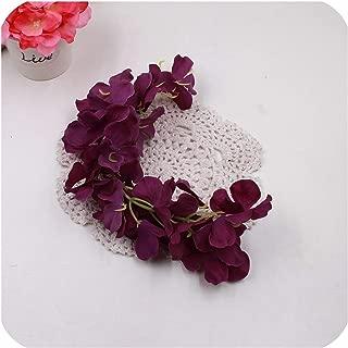heartbeat-time Wholesale 10Pcs Rattan Strip Wisteria Artificial Flower Vine for Wedding Home Party Kids Room Decoration DIY Craft Fake Flowers,Deep Purple