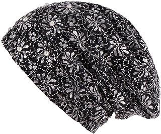 Rhinestone Lace Flower Women Beanie Cap Cancer Chemo Muslim Turban Hat Head Wrap