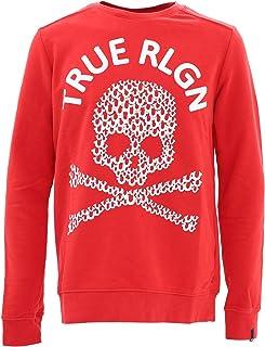 True Religion Skull Logo Red Sweatshirt