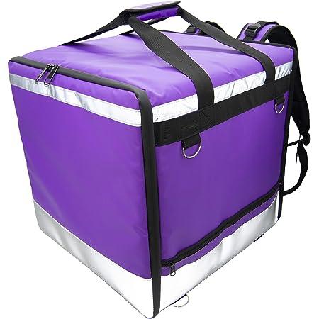 Lollipoper: Sac à dos Isotherme 45x45x45 cm pour la livraison alimentaire à domicile imperméable violet, pizza, hamburger, boisson.