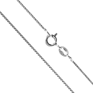 Sterling Silver 1mm Box Chain Necklace, 14