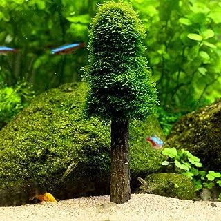 【ノーブランド品】水槽 装飾 用品 水草 巻きたて ウィローモス クリスマスツリー モスツリーセット 水族館