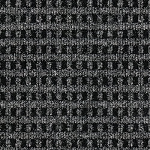 Smart Transformations from 4urFloor 72MCN Mosaic (Smoke) Carpet Tile Peel and Place, 24'x 24', Black