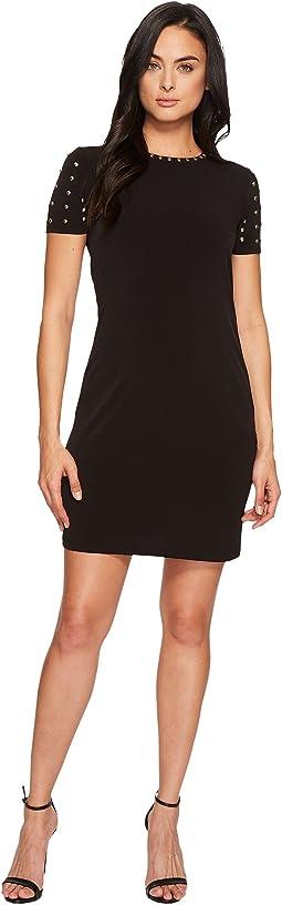 MICHAEL Michael Kors - Short Sleeve Dome Stud Dress