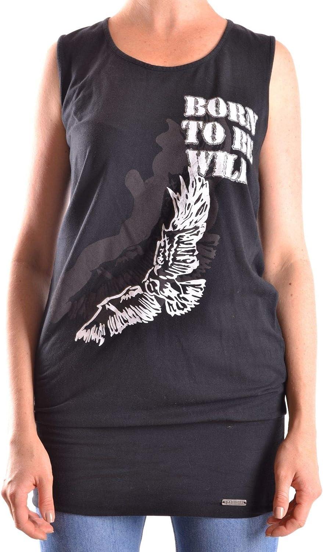 Galliano Women's MCBI24993 Black Cotton Tank Top