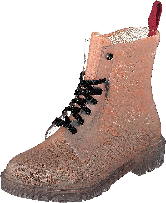 GOSCH schuhe Damen Stiefel Schuhe Stiefel Transparent 7105-155-630 PVC in Orange