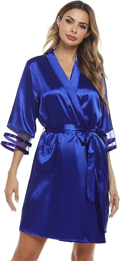 216 opinioni per Aiboria Accappatoio Vestaglie Donna Pigiama Kimono,Vestaglia da Sposa Camicia da