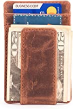 RAW HYD Leather Money Clip Travel Wallet   Perfect No Fold Wallet for Front Pocket