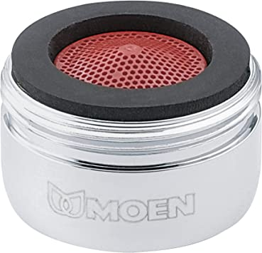 Moen 3919 2 2 Gpm Male Thread Kitchen Faucet Aerator Chrome Faucet Aerators And Adapters Amazon Com