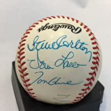 Pedro Martinez Cy Young Award Winners Multi Signed Baseball 9 Autos JSA COA